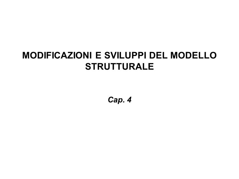 MODIFICAZIONI E SVILUPPI DEL MODELLO STRUTTURALE