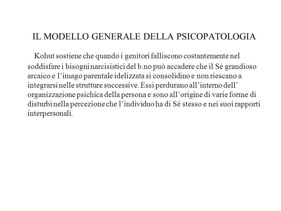 IL MODELLO GENERALE DELLA PSICOPATOLOGIA