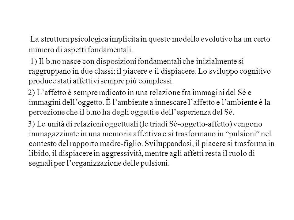La struttura psicologica implicita in questo modello evolutivo ha un certo numero di aspetti fondamentali.