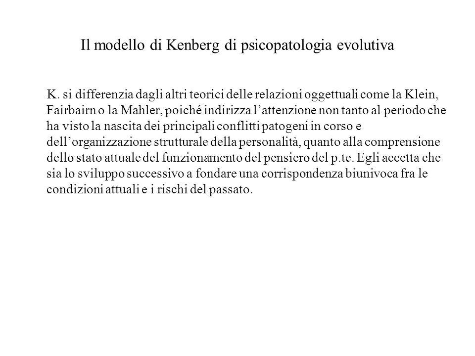 Il modello di Kenberg di psicopatologia evolutiva