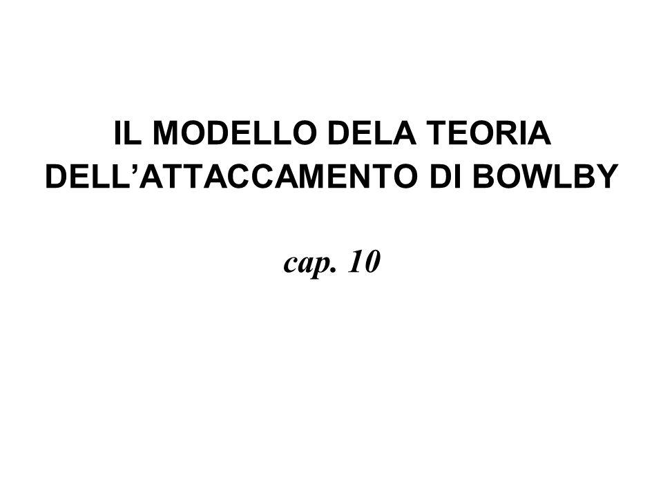 IL MODELLO DELA TEORIA DELL'ATTACCAMENTO DI BOWLBY cap. 10