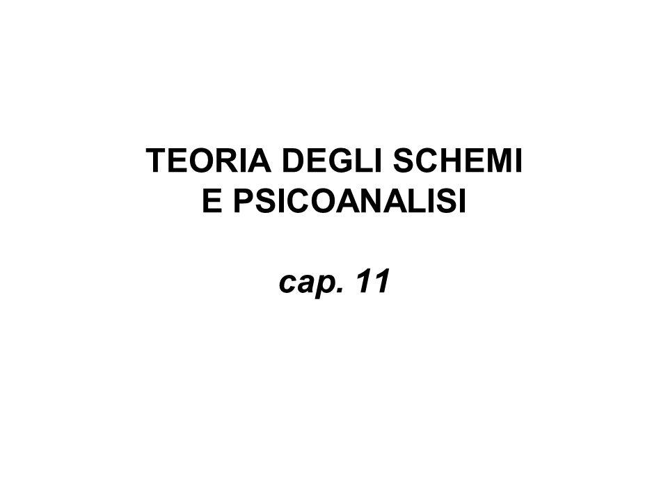 TEORIA DEGLI SCHEMI E PSICOANALISI cap. 11
