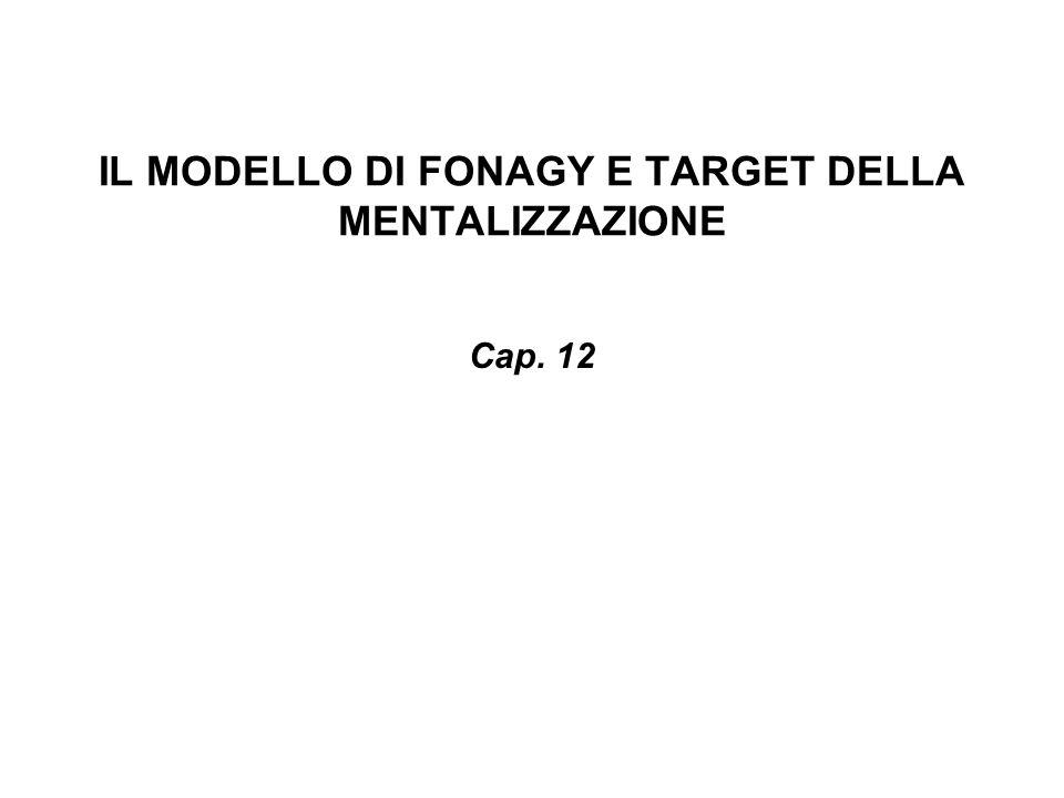 IL MODELLO DI FONAGY E TARGET DELLA MENTALIZZAZIONE