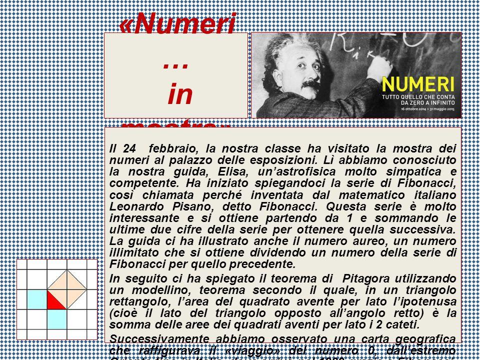 «Numeri … in mostra»