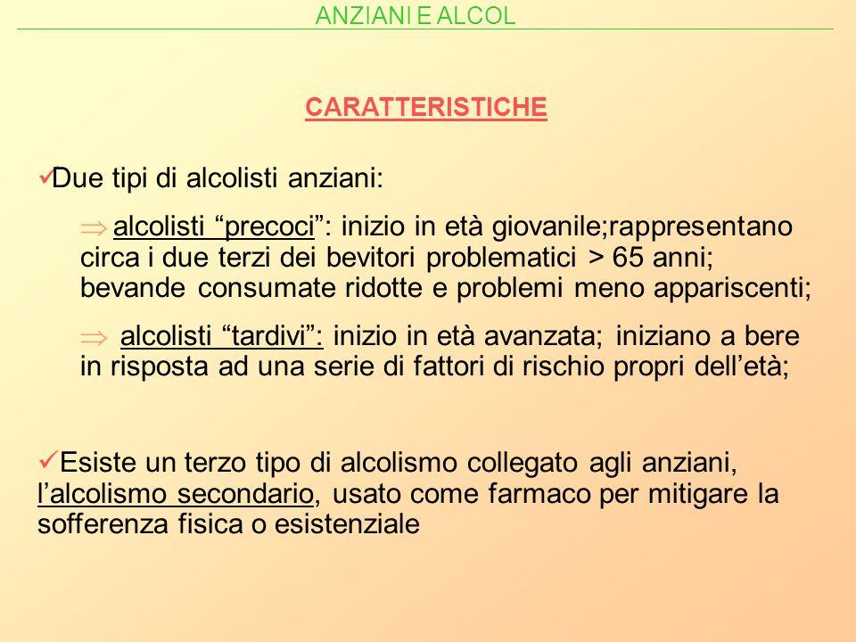 Due tipi di alcolisti anziani: