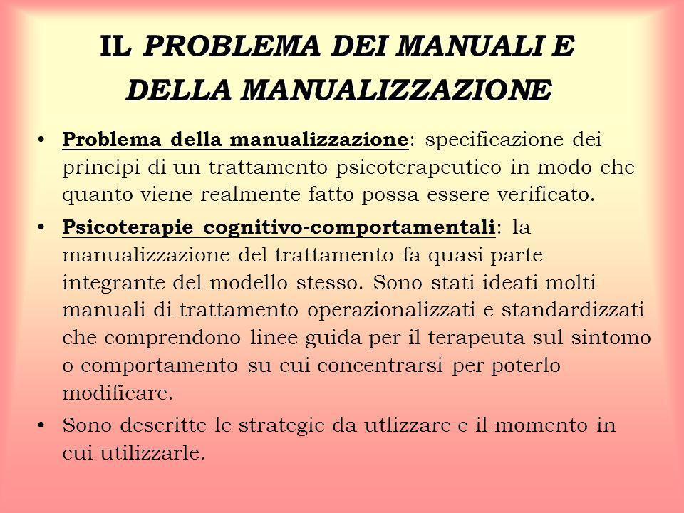 IL PROBLEMA DEI MANUALI E DELLA MANUALIZZAZIONE
