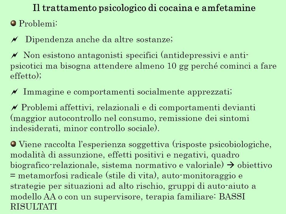Il trattamento psicologico di cocaina e amfetamine