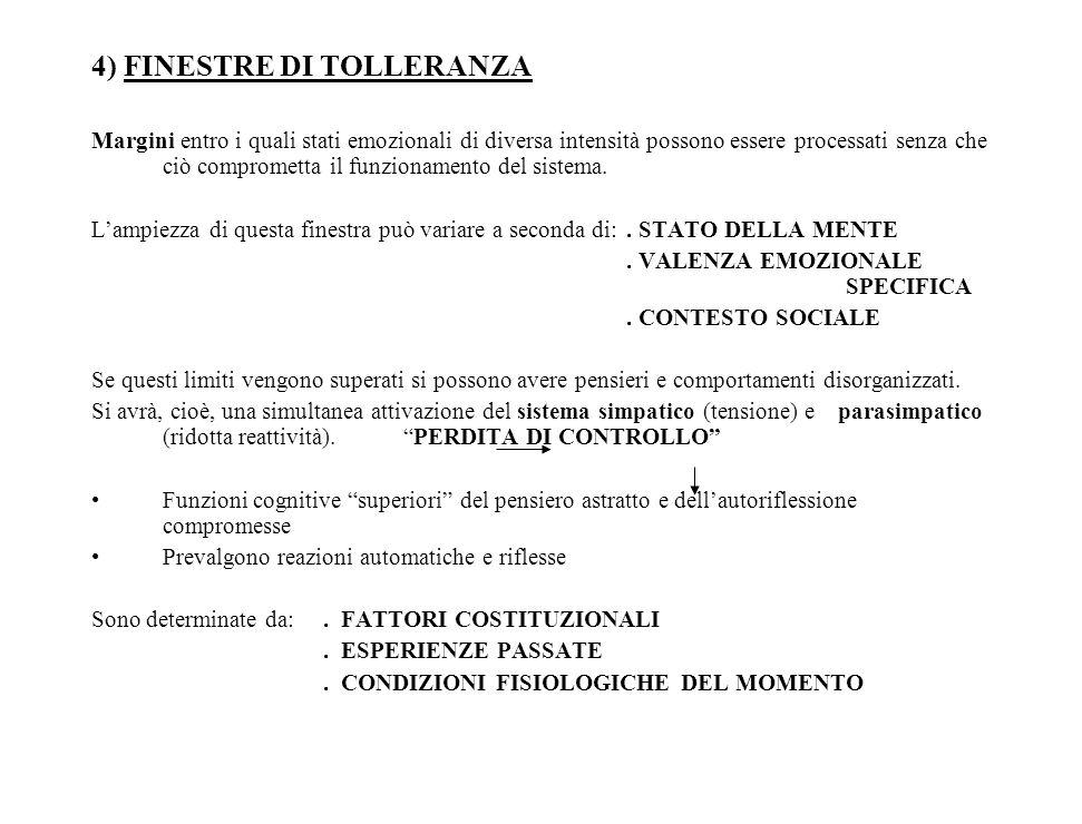 4) FINESTRE DI TOLLERANZA