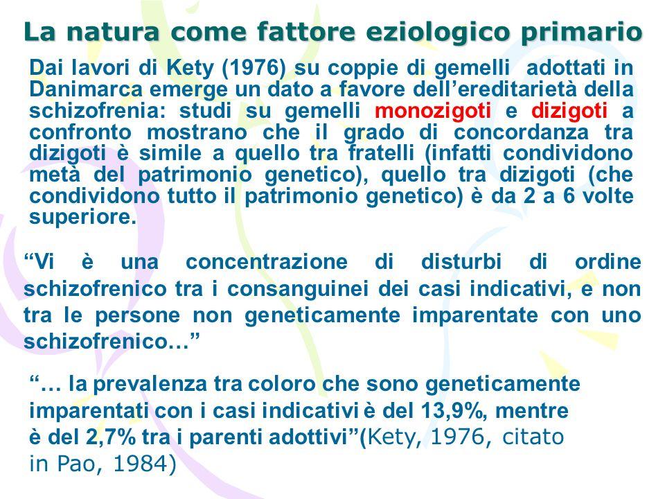 La natura come fattore eziologico primario