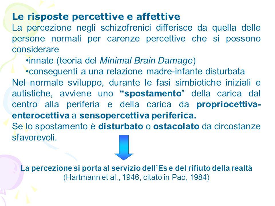 Le risposte percettive e affettive