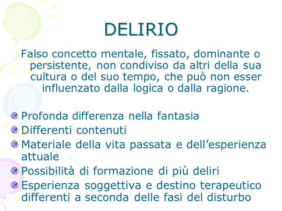 DELIRIO Differenti contenuti