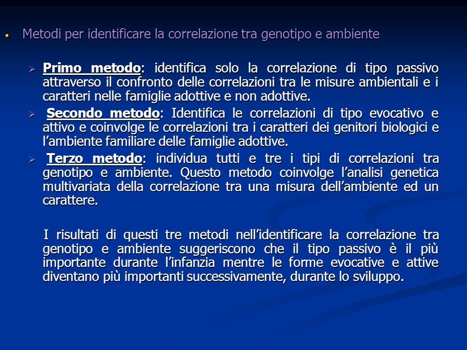 Metodi per identificare la correlazione tra genotipo e ambiente