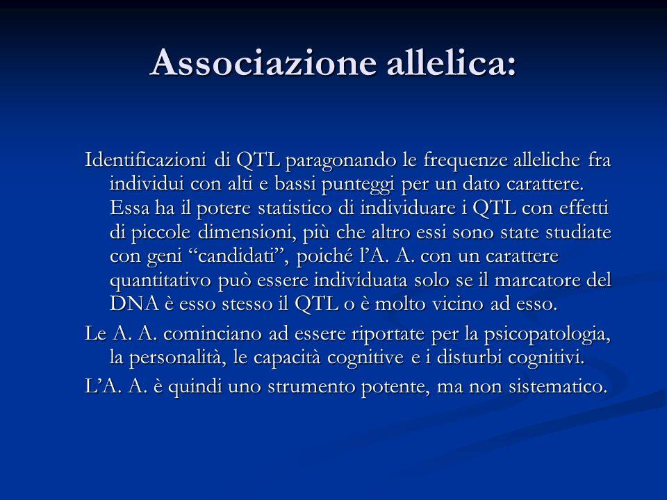 Associazione allelica: