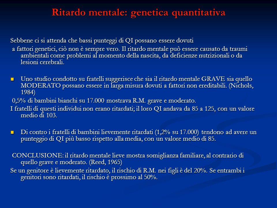 Ritardo mentale: genetica quantitativa