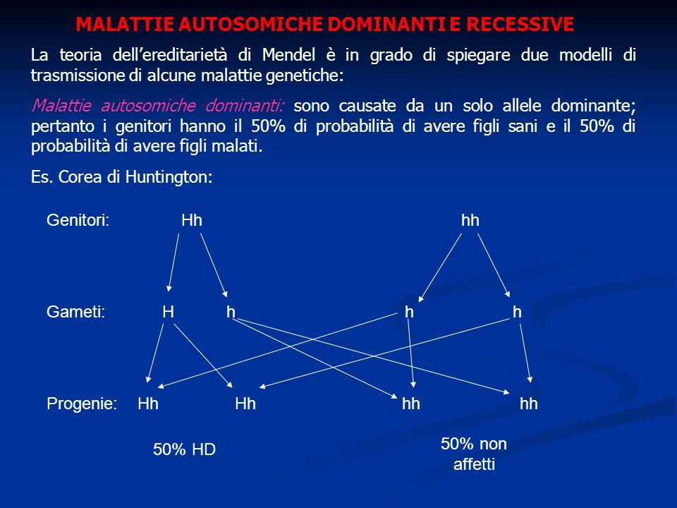 MALATTIE AUTOSOMICHE DOMINANTI E RECESSIVE
