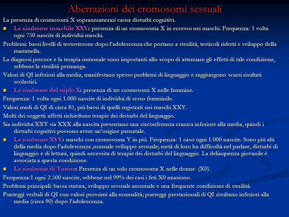Aberrazioni dei cromosomi sessuali
