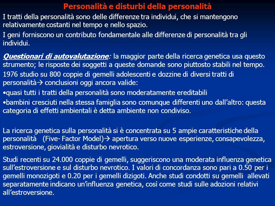 Personalità e disturbi della personalità