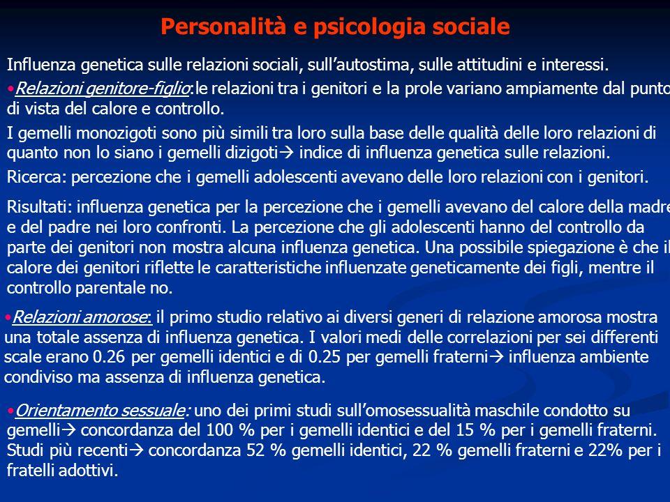 Personalità e psicologia sociale
