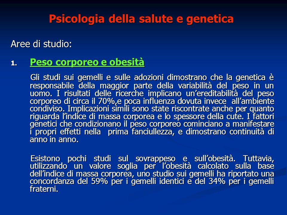 Psicologia della salute e genetica