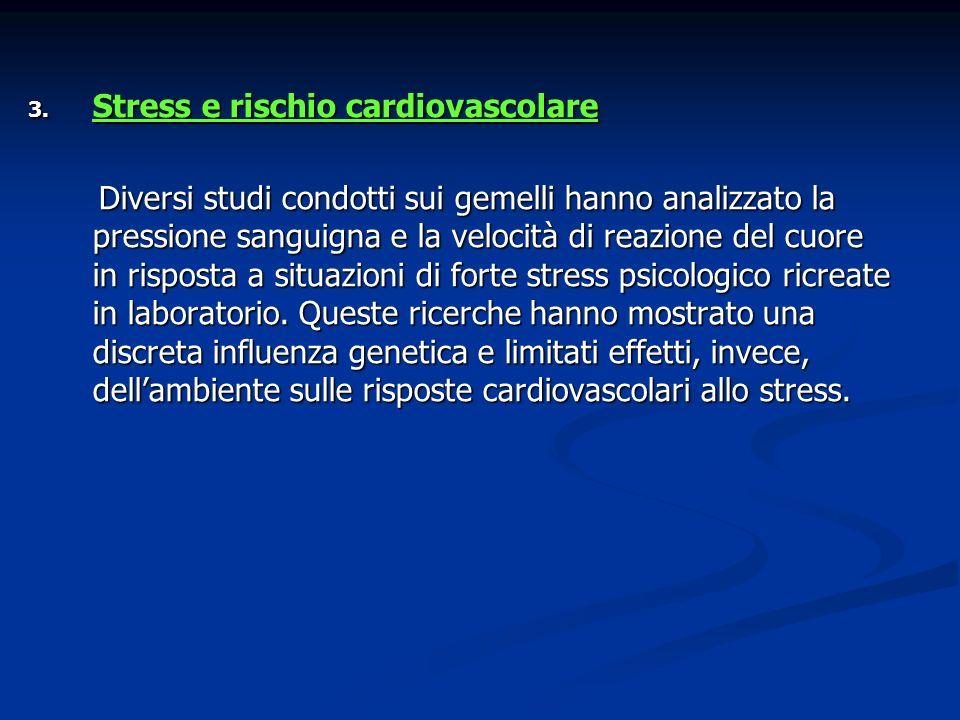 Stress e rischio cardiovascolare