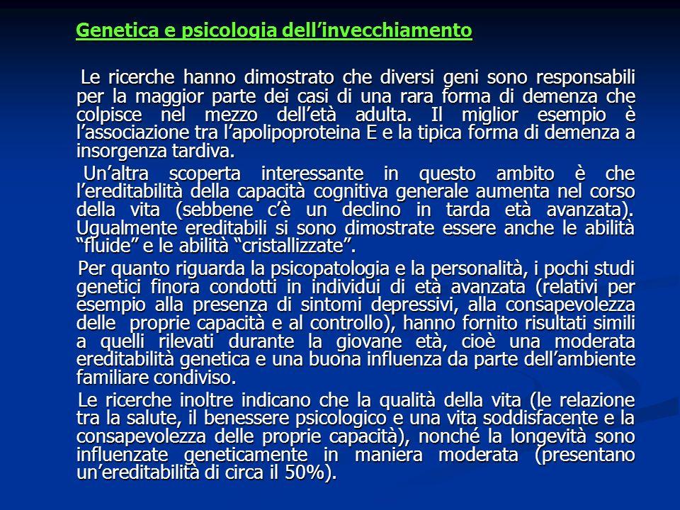 Genetica e psicologia dell'invecchiamento