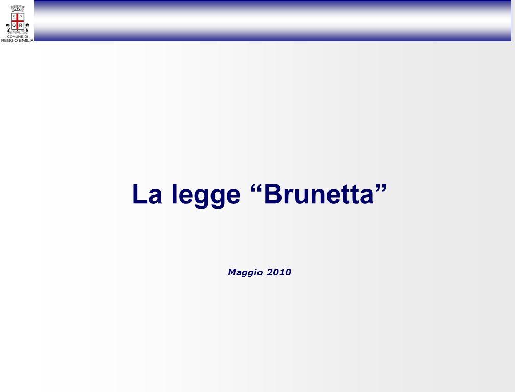 La legge Brunetta Maggio 2010