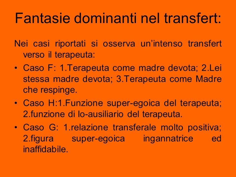 Fantasie dominanti nel transfert: