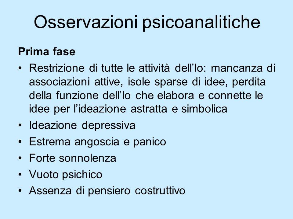 Osservazioni psicoanalitiche