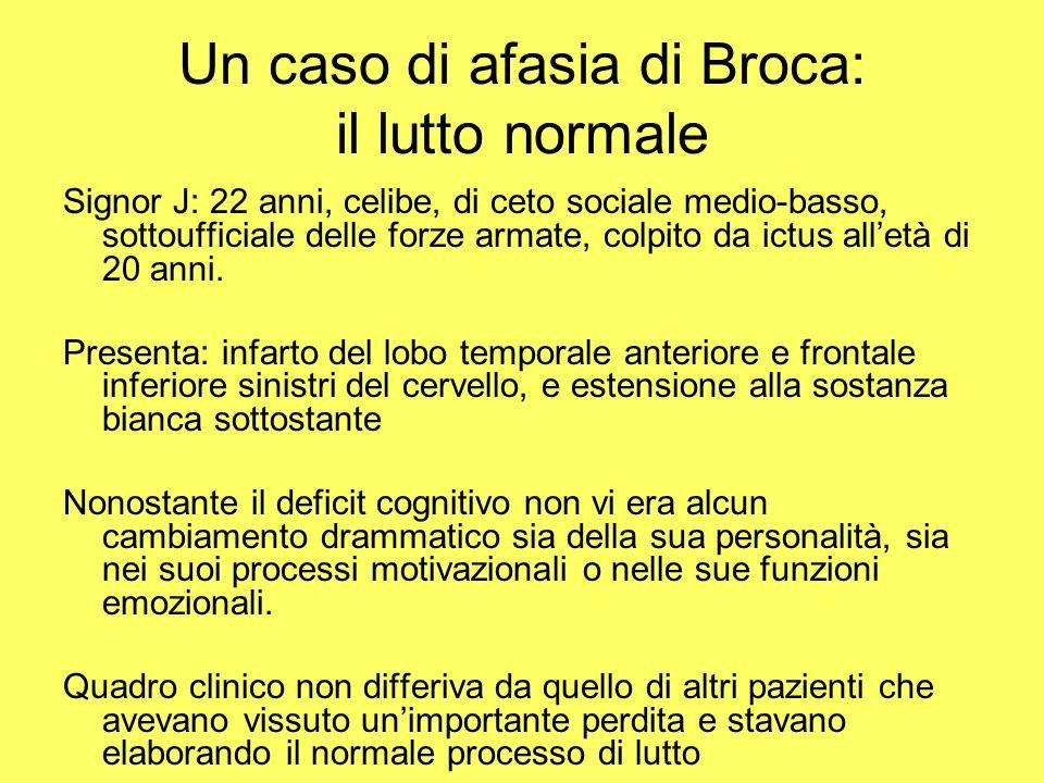 Un caso di afasia di Broca: il lutto normale