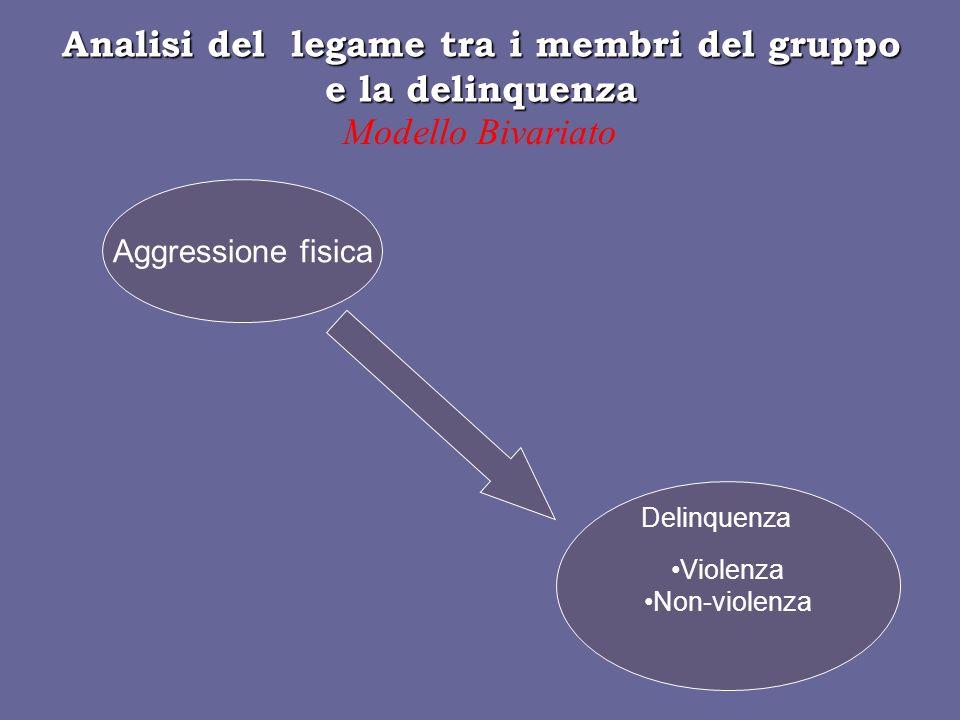 Analisi del legame tra i membri del gruppo e la delinquenza
