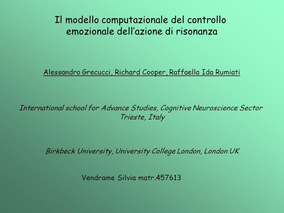 Il modello computazionale del controllo