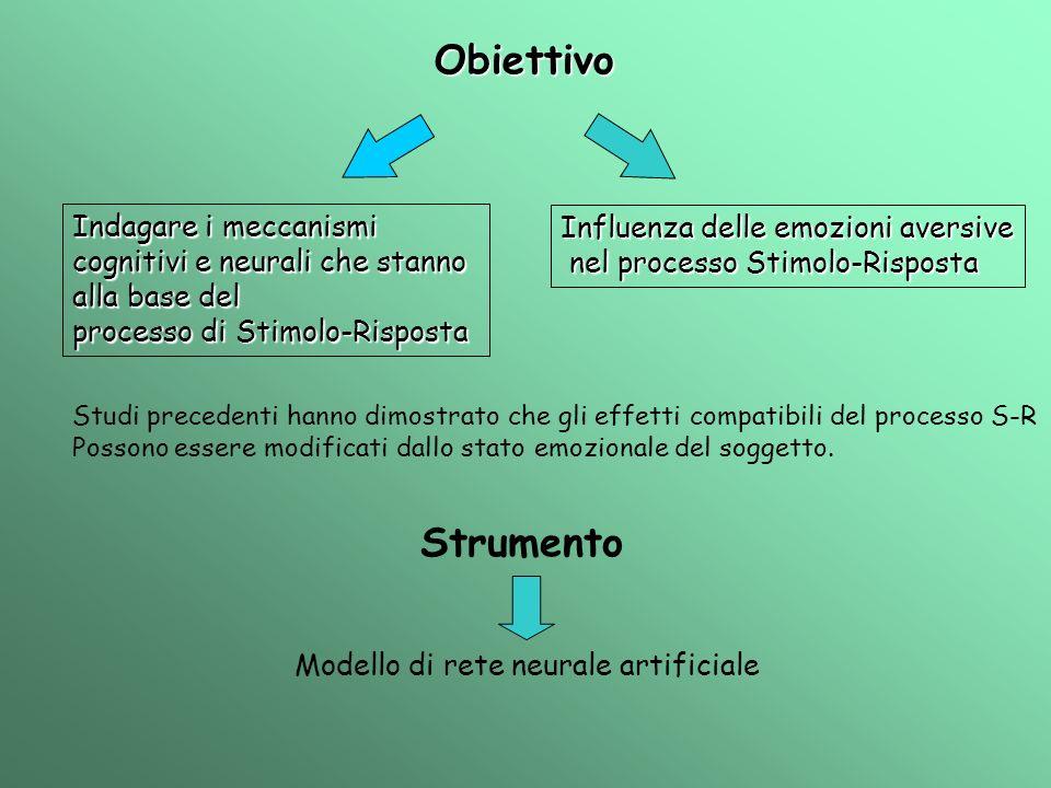 ObiettivoIndagare i meccanismi cognitivi e neurali che stanno alla base del. processo di Stimolo-Risposta.