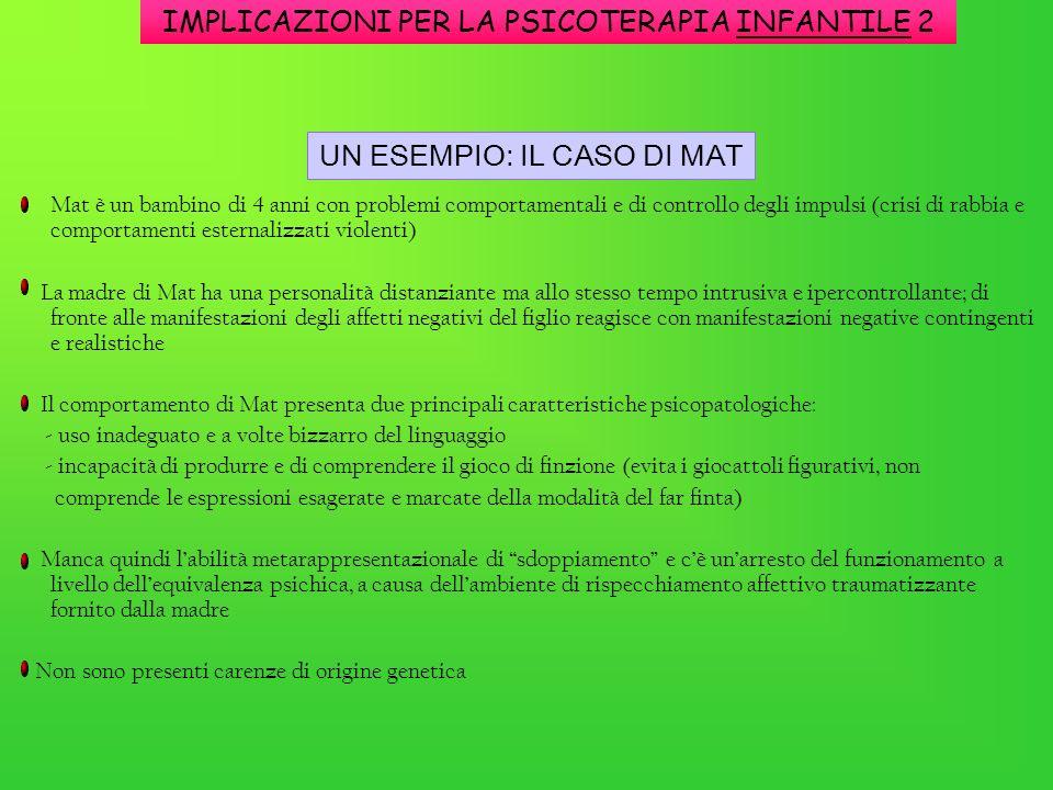 IMPLICAZIONI PER LA PSICOTERAPIA INFANTILE 2