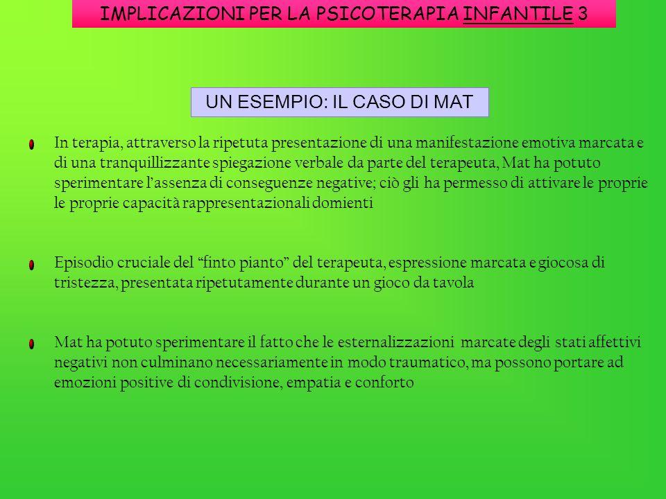 IMPLICAZIONI PER LA PSICOTERAPIA INFANTILE 3