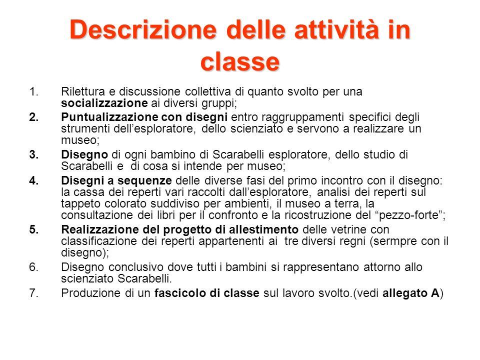 Descrizione delle attività in classe