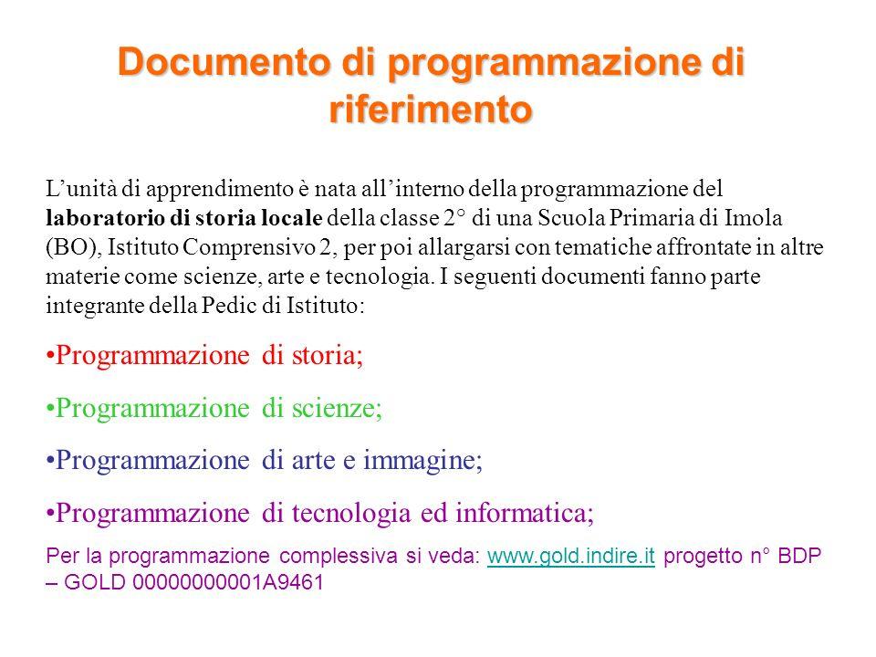 Documento di programmazione di riferimento