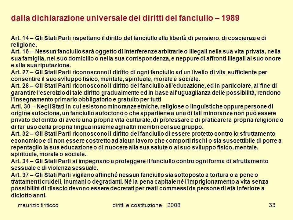 diritti e costituzione 2008