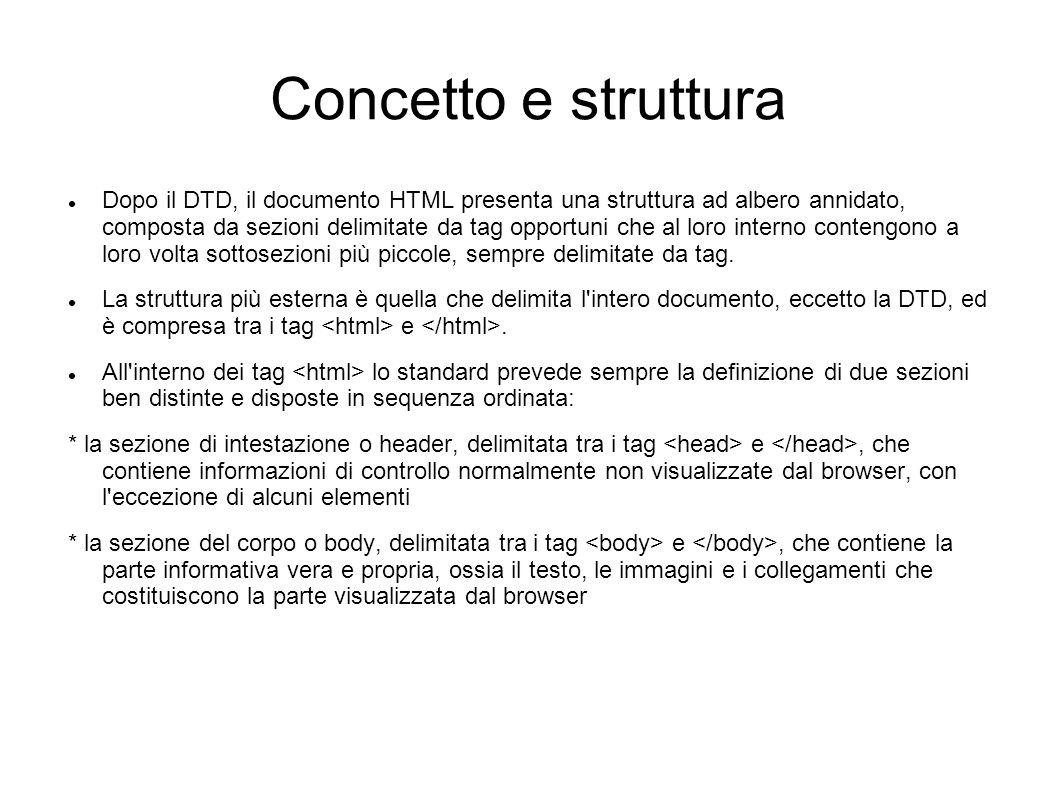 Concetto e struttura