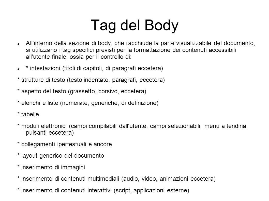 Tag del Body