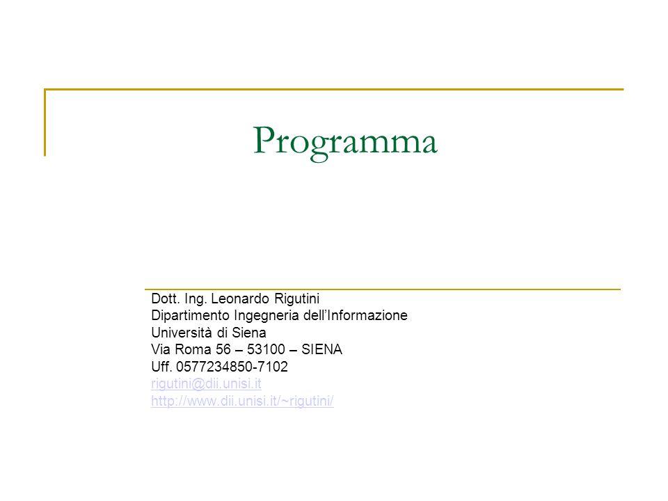 Programma Dott. Ing. Leonardo Rigutini