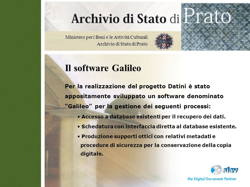 Il software Galileo