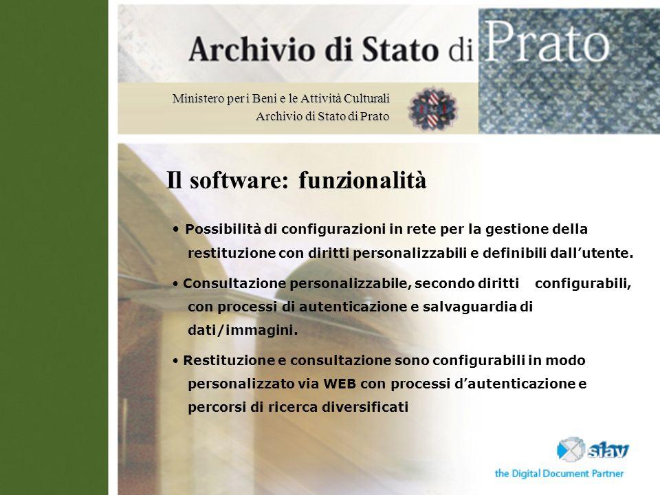 Il software: funzionalità