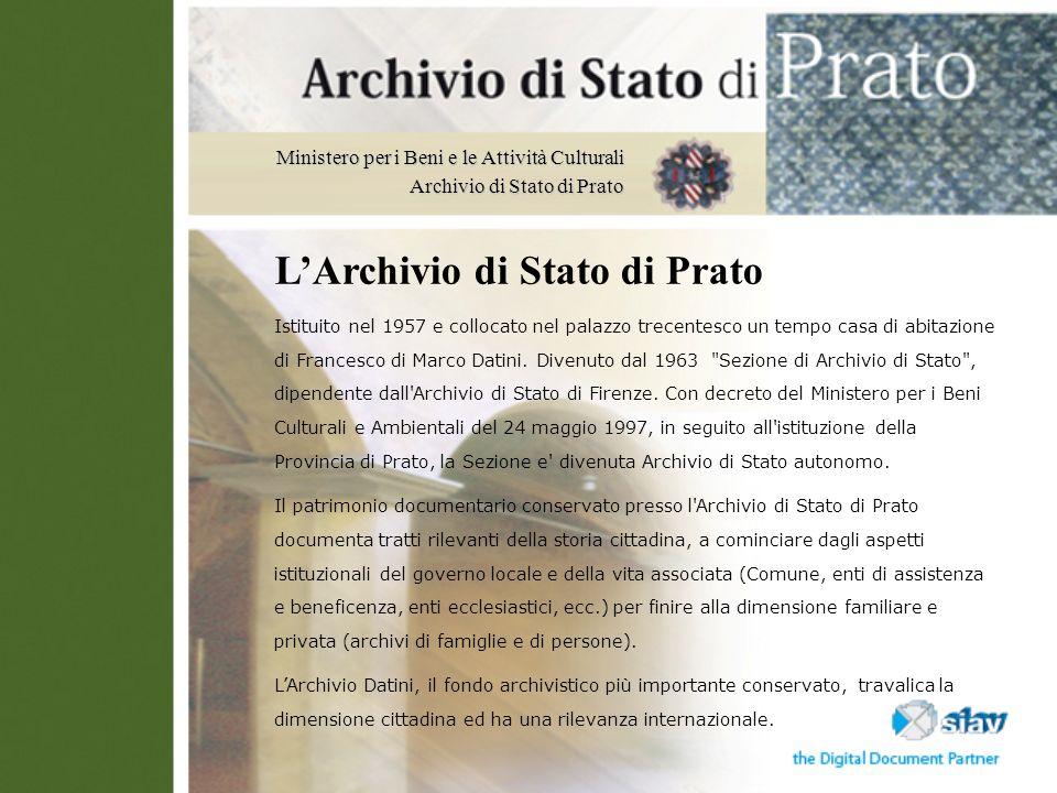 L'Archivio di Stato di Prato