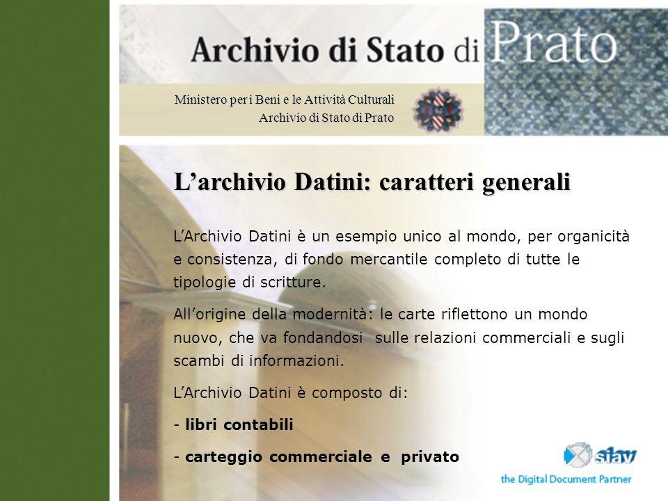 L'archivio Datini: caratteri generali