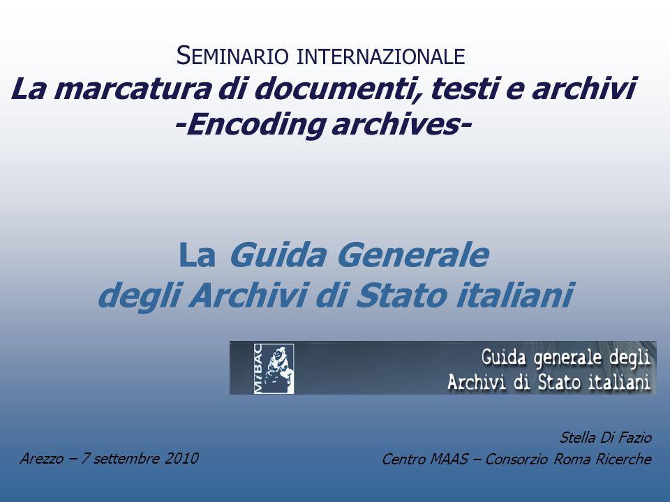 La Guida Generale degli Archivi di Stato italiani