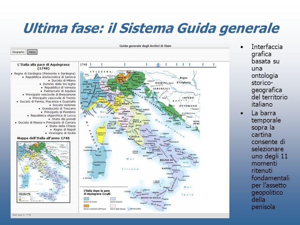 Ultima fase: il Sistema Guida generale