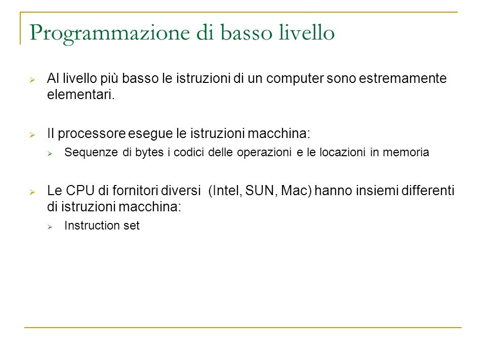 Programmazione di basso livello