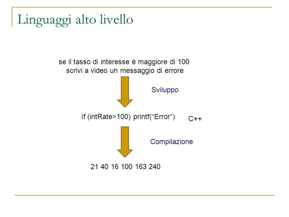 Linguaggi alto livello