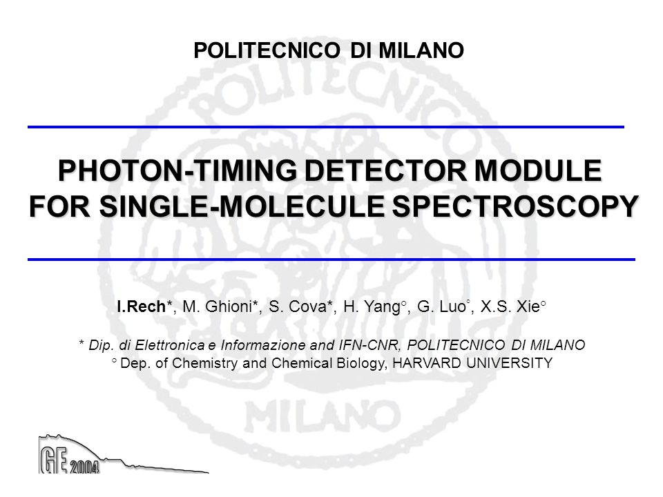 PHOTON-TIMING DETECTOR MODULE FOR SINGLE-MOLECULE SPECTROSCOPY