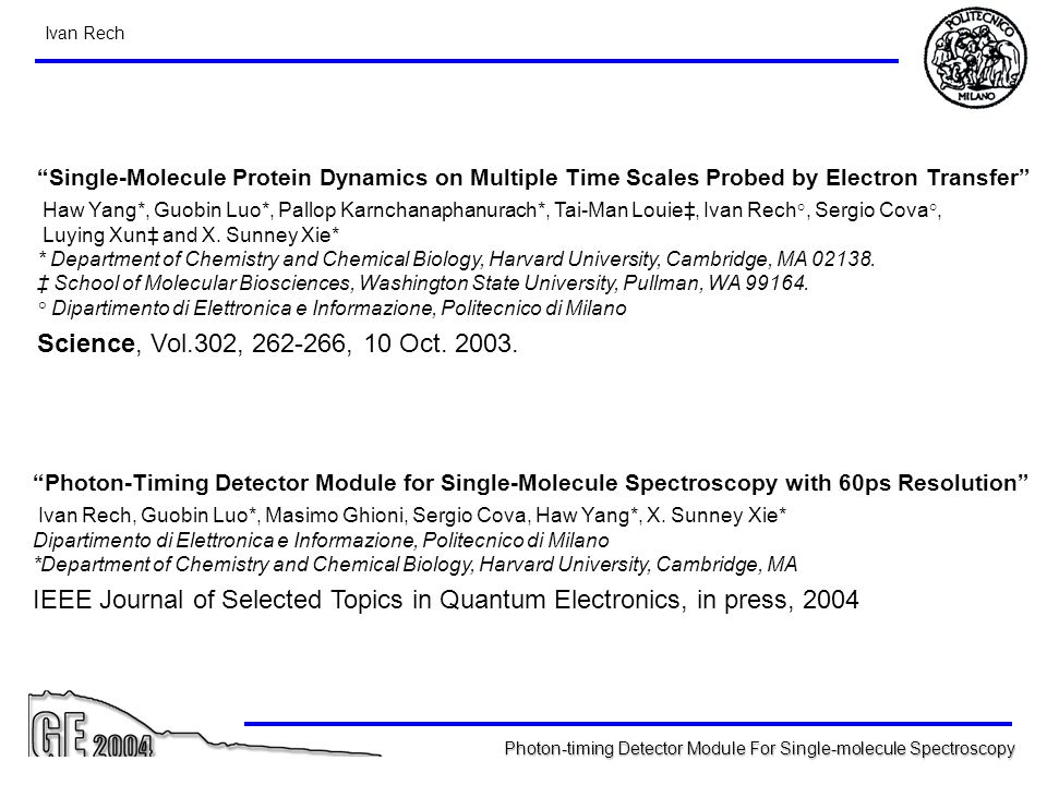 IEEE Journal of Selected Topics in Quantum Electronics, in press, 2004